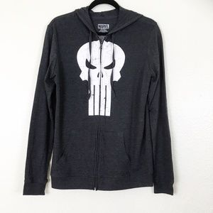 Marvel Dark Gray Punisher Zip Up Hoodie